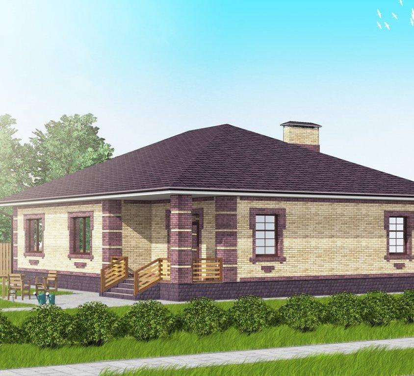 Компактный одноэтажный дом