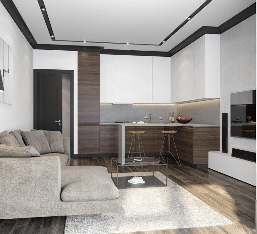 ЖК RedSide ремонт квартиры дизайн проект индастриал
