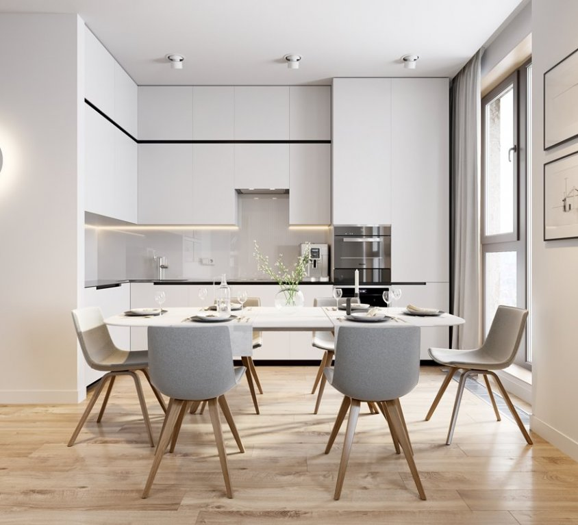 ЖК RedSide Редсайд ремонт дизайн трехкомнатная квартира