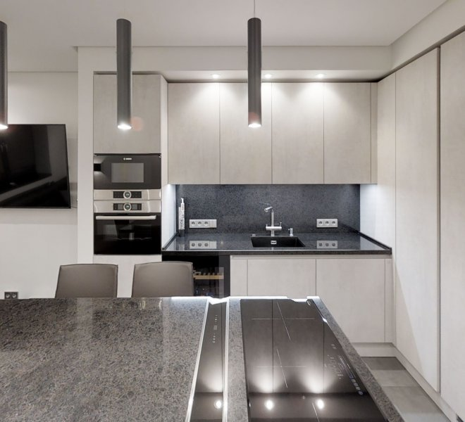 ремонт кухни гостиной